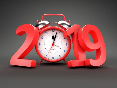 102518343-new-year-2019-with-clock-3d-rendered-image