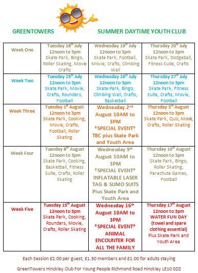 Summer Daytime Programme